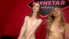 Junge russische Lesben Anfassen Arschlöcher während der süßen Kuni
